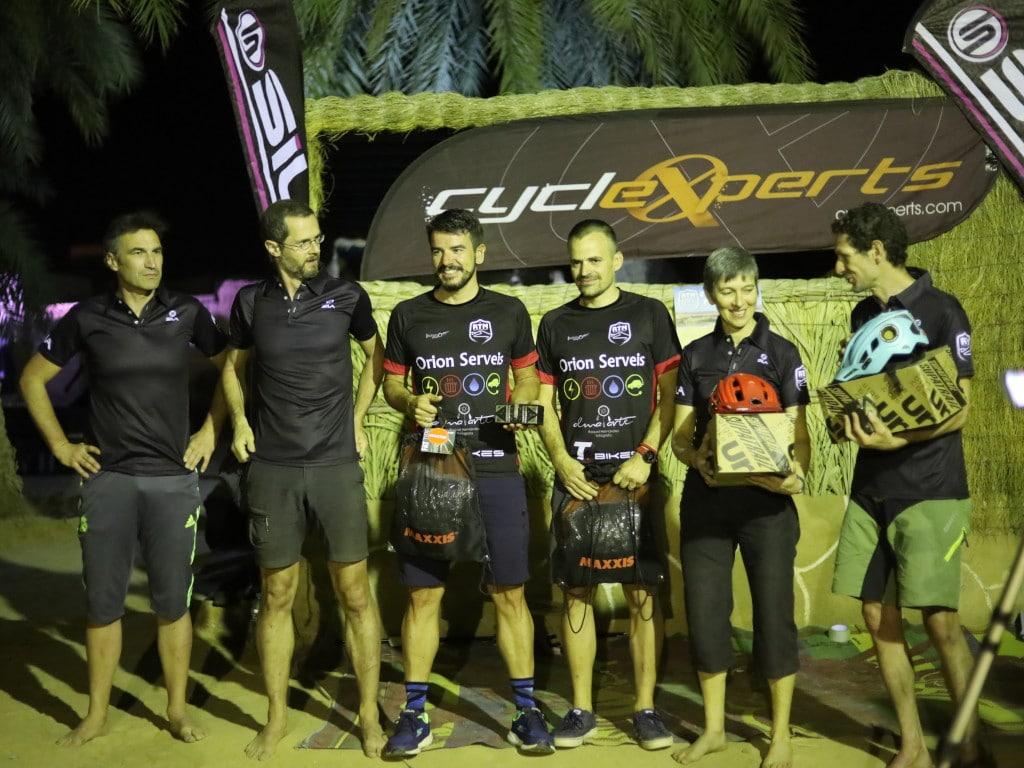 Podium of Raid TransMauritania 2020